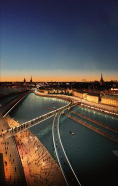 Slussen Masterplan, Stockholm, Sweden, 2009 /  Foster+Partners