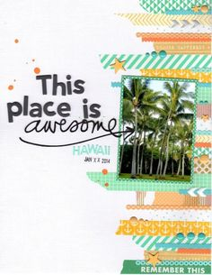 #papercraft #scrapbook #layout this place is awesome by kraftykat9 at @Studio_Calico
