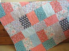 Handmade Quilt with Owls, Birds and Butterflies