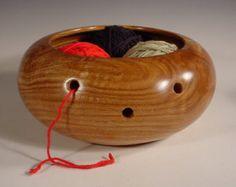 Limestone Cedar Wooden Yarn Bowl Turned Wood Bowl Art Number 5794