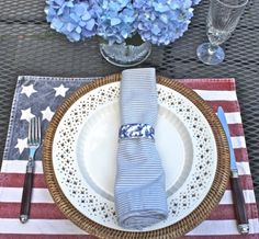 tabletop for the fourth of July