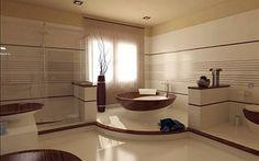 Просторная ванная в этно стиле
