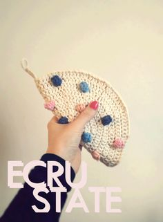 #ECRUSTATE #crochet #potholder #handmade #bobble #popcorn #stitch #Colourful #dots #sprinkles