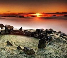 Ballymacdermott Cairn, County Armagh, Northern Ireland - This monument, lying on the southern slopes of Ballymacdermott Mountain close to Newry, is an extremely well preserved Neolithic burial site with three chambers. It can be dated between 4000 and 2500 BCE.