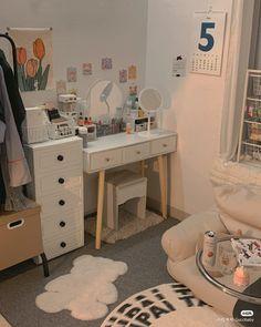 Room Design Bedroom, Room Ideas Bedroom, Home Room Design, Bedroom Decor, Study Room Decor, Small Room Decor, Cute Room Decor, Pastel Room, Cute Room Ideas