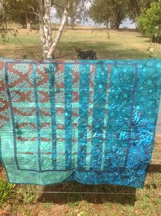Convergence quilt (with 17month old Jarrah the kelpie photo bombing)