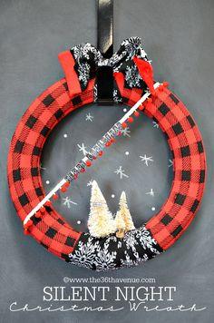 Christmas Decor- DIY Christmas Wreath Tutorial at the36thavenue.com ...Super cute!!!