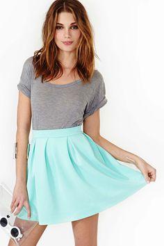 Scuba Skater Skirt in Mint