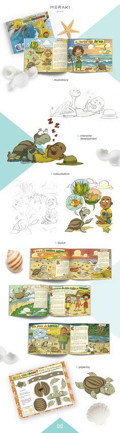Tartarugando/Turtling -  book and papertoy