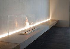 EcoSmart Fire bio-ethanol burner installation by Dermot Lenaghan, Sydney Australia Ethanol Fireplace Basement Fireplace, Bioethanol Fireplace, Home Fireplace, Modern Fireplace, Fireplace Design, Fireplace Ideas, Fireplaces, Fire Pit Accessories, Modern Interior Design