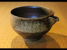 Shimaoka Tatsuzo (1919-2007); legendary Living National Treasure potter as most know--here is one of his finest large ash-glazed zogan Jomon katakuchi--spouted pouring vessels--dating to the early 1970s.