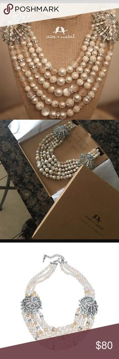hearloom pearl statement piece Never worn and still units original packaging. Comes with a forever guarantee from the company. Great for a gift! Being sold twice for twice as much by others :) Chloe + Isabel Jewelry Necklaces