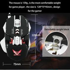 High-end brand mechanical macro definition gaming mouse, Human body engineering programmable keys, Cool LED variable light effect, adjustable DPI, Max. Best Computer, Gaming Computer, Computer Mouse, Human Body, Keys, Computers, Software, Engineering, Hardware