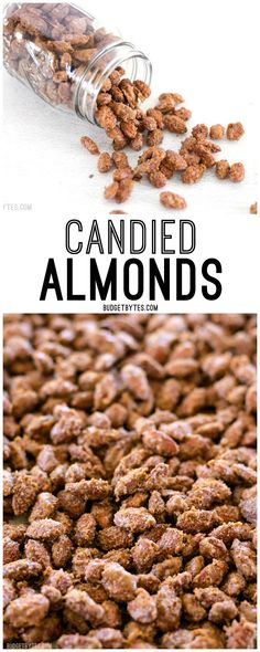 Homemade Candied Almonds are a fraction of the price of store bought and make great homemade gifts for the holidays!