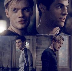 Alec And Jace, Clary And Jace, Shadowhunters Series, Shadowhunters The Mortal Instruments, Jace Wayland, Alec Lightwood, Clary Fray, Constantin Film, Dominic Sherwood
