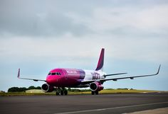 The Wizz Air aircraft on the runway during the launch of the Wizz Air service from Bristol Airport to Katowice. Description from bristolairportspotting.co.uk.