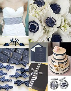 preppy wedding navy and white
