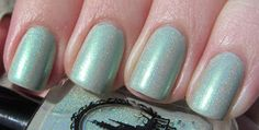 My Life in Polish: Enchanted Polish Britney SpearMint swatched thinly on the edge of my pinky nail. Box included.   $22.00 shipped with tracking.    Will swap for another EP.