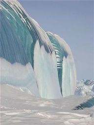 Frozen Tsunami In Antarctica  Beautiful... but how could this happen