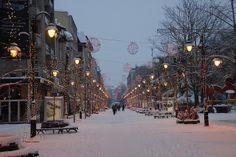 """Skopje, Macdeonia - """"Skopje Winter Night """" by Fursa via Flickr"""