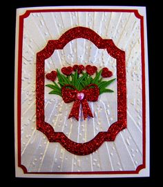 Ann Greenspan's Crafts: Bouquet of Hearts card