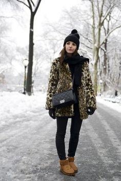 Ces looks d'hiver douillets que l'on a aimés sur Pinterest. Winter outfit panter, bond, style