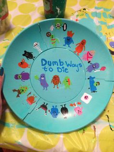 Dumb ways to die bowl