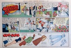 Brenda-Starr-by-Dale-Messick-Paper-Dolls-half-page-Sunday-comic-Sept-9-1951
