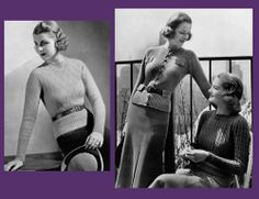 1000 images about 1930s knitwear on knit