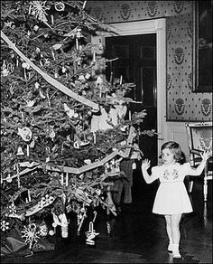 Caroline Kennedy in the Blue Room at the White House in 1961