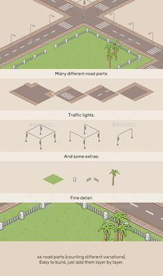 Pixel Art Roads — Photoshop PSD #street #art • Available here → https://graphicriver.net/item/pixel-art-roads/10947150?ref=pxcr