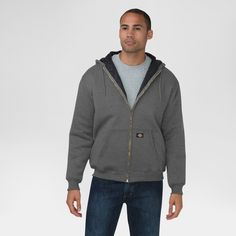 Dickies Men's Heavyweight Quilted Fleece Hoodie Big & Tall Dark Heather Grey Xxl Tall, Size: 2XL Tall