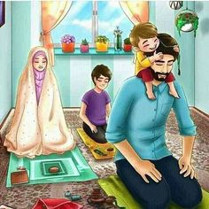 Girly m - Couple Musulman, Couple With Baby, Cute Couple Art, Anime Love Couple, Couple Cartoon, Cute Muslim Couples, Muslim Girls, Cute Couples, Islam Marriage