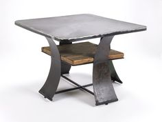 Coffee Table Reclaimed Wood and Recycled Farm Metal Steel and Barn Industrial Style