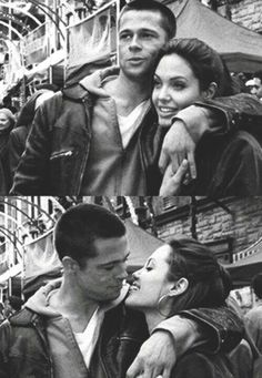 """Brangelina"" // the way he looks at her....I want a guy who looks at me like this! <3"