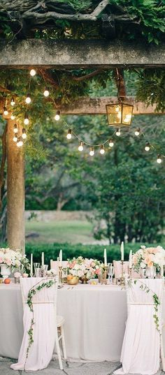 bulb lights wedding decor / http://www.deerpearlflowers.com/hanging-wedding-decor-ideas/2/