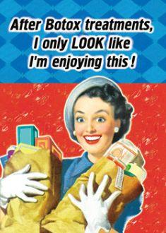 . Housewife Humor, Retro Housewife, Retro Humor, Vintage Humor, Retro Funny, Retro Quotes, Laughter The Best Medicine, Botox Fillers, Men Are Men
