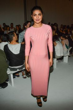 Priyanka Chopra in Altuzarra at New York Fashion Week Ladies Lunch, Bollywood Stars, Red Carpet Looks, Priyanka Chopra, Guys And Girls, Bollywood Actress, Front Row, Knit Dress, Celebrity Style