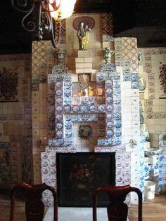 Victor Hugo's Hauteville House -tile fireplace- Guernsey