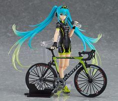 hatsune miku bike miku action pvc figures toys collection ANIME doll new no box Vocaloid, Kaito, Misaki, Mega Anime, Otaku, Anime Figurines, Mode Shop, Anime Merchandise, Cycling Art