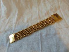 vintage taxco bracelet sterling vermeil signed MPI five 5