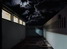 The unreal photorealistic oil paintings of corridors and hospitals by Gina Heyer, South African artist. South African Artists, Stairs, Oil, Fine Art, Night, Artwork, Painting, Decor, Stairway