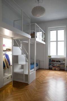 Small Room Bedroom, Bedroom Loft, Baby Bedroom, Kids Bedroom, Bedroom Decor, Casa Milano, Bunk Bed Designs, Small Apartment Decorating, Dream Rooms