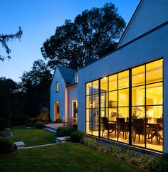 Distilled Traditional - Transitional - Exterior - DC Metro - by Anne Decker Architects, LLC Exterior Design, Interior And Exterior, Steel Doors And Windows, Home Design Magazines, Architect Design, Residential Architecture, Architecture Details, Modern Farmhouse, House Design
