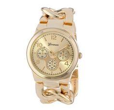 f2e4a7da4af Značkové dámské hodinky Geneva ve zlaté barvě Na tento produkt se vztahuje  nejen zajímavá sleva