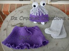 Crochet Boo Photo Prop/Baby set 312 Months by HandMadeByDz on Etsy, $32.00