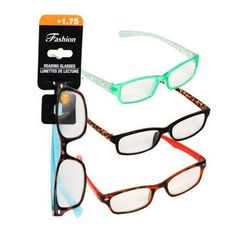 1d082c65a5c Stylish Reading Glasses with +1.75 Diopter (Set of 3) Stylish Reading  Glasses