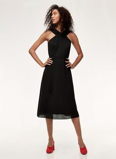 This dress is cut from fluid crepe de chine that soft to the touch and feels amazing to wear. The feminine silhouette is tailored with waist-defining princess seams for a flattering fit. Black Midi Dress, Princess Seam, Formal Wear, Dress To Impress, Dresses For Work, Feminine, Bridesmaid Dresses, Elegant