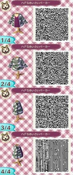 Animal crossing new leaf jacket qr code