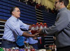 "The elaborate stagecraft behind Mitt Romney's ""Storm Relief"" Event | Under the Mountain Bunker"